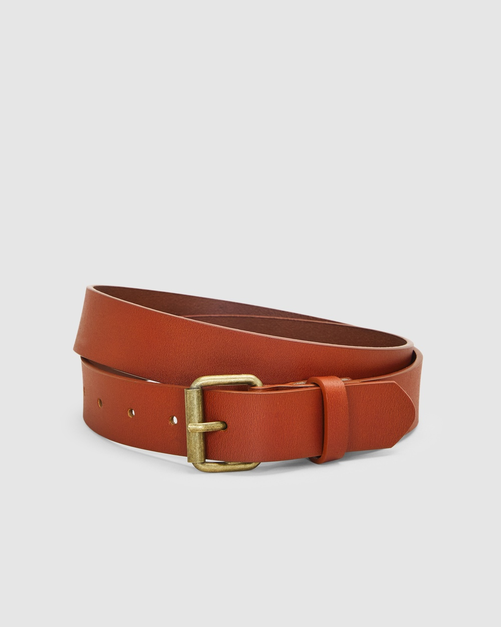 French Connection Leather Belt Belts TAN