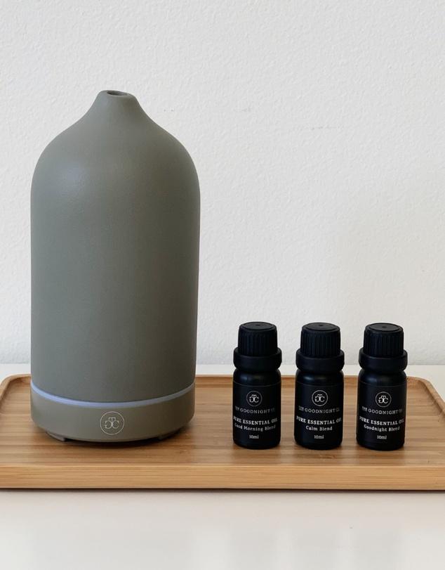 Life Ceramic Diffuser & Essential Oil Starter Kit