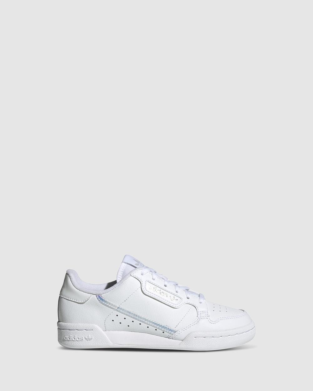 adidas Originals Continental 80 Grade School Sneakers White/Silver Hologram Australia