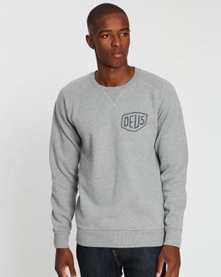 Deus Ex Machina Camperdown Address Crew Sweater - Sweats (Grey Marle)