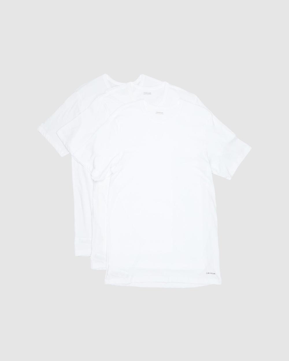Calvin Klein - SS Crew Neck T Shirt 3 Pack - T-Shirts & Singlets (White) SS Crew Neck T-Shirt 3-Pack