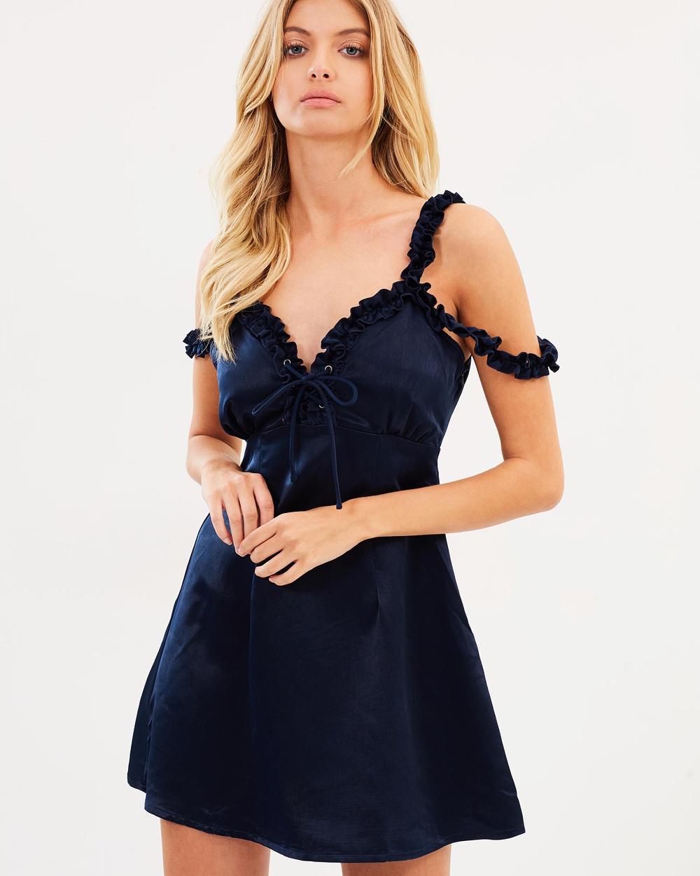 Atmos & Here ICONIC EXCLUSIVE Lola Mini Dress Dresses Ink ICONIC EXCLUSIVE Lola Mini Dress