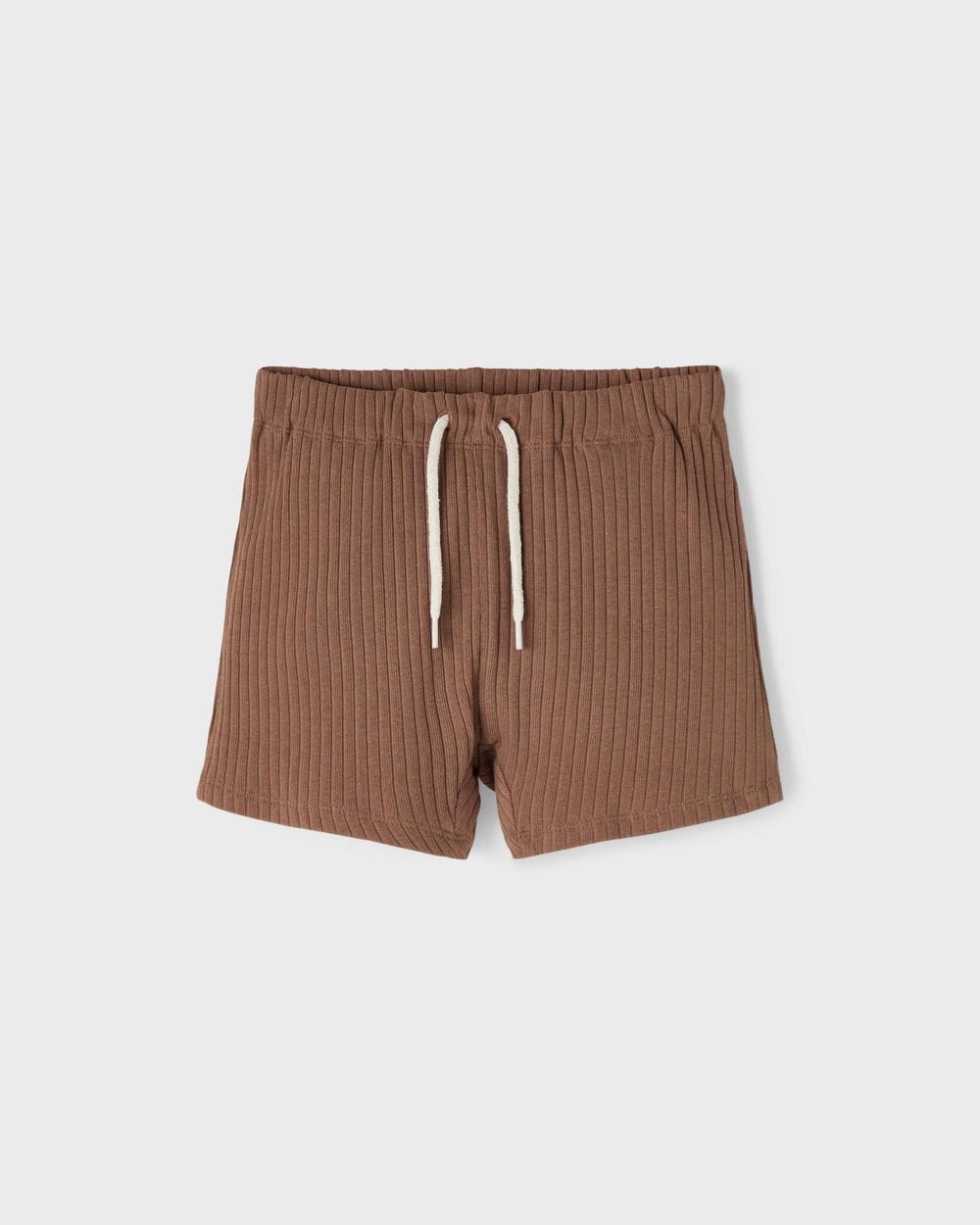 Lil' Atelier Sixten Loose Shorts Kids Brown