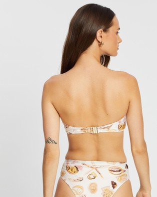 Cleonie Cala Shell Bandeau Bikini Top - Bikini Tops (Shell Print)