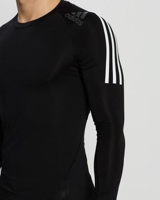 adidas Performance Alphaskin Sport+ 3 Stripes Tee - all compression (Black)