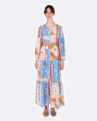 Coco Ribbon – Poetic Boheme Maxi Dress Spliced Floral