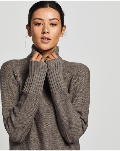 Womens Wrap Jumper Marle-Style Knit Jumper Simply Be
