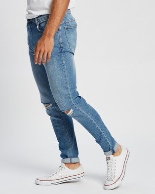 Abrand A Dropped Skinny Turn Up Jeans - Jeans (Tribe Blue Rip)
