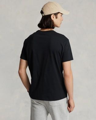 Polo Ralph Lauren - Classic Fit Jersey Crew Neck T Shirt - T-Shirts & Singlets (Black) Classic Fit Jersey Crew Neck T-Shirt