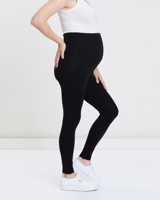 LOVE2WAIT Maternity Leggings - Full Tights (Black)