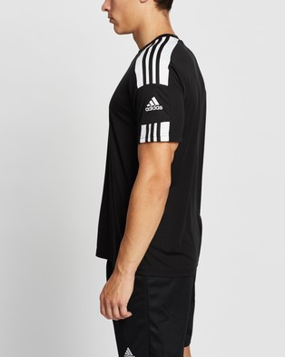 adidas Performance Squad 21 Short Sleeve Jersey Top - Short Sleeve T-Shirts (Black & White)