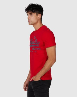 Superdry Vintage Logo Rising Sun Tee - T-Shirts (Rouge Red)