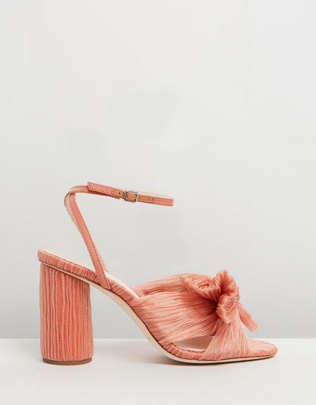Camellia Knot Mules With Ankle Strap by Loeffler Randall