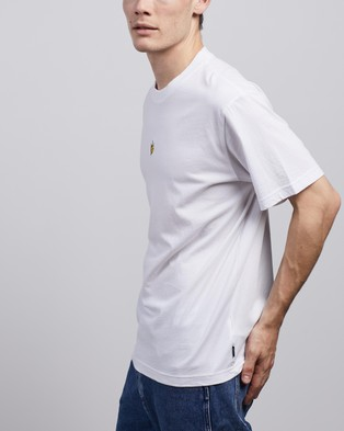 Afends Tito Flame Retro Fit Tee - T-Shirts & Singlets (White)