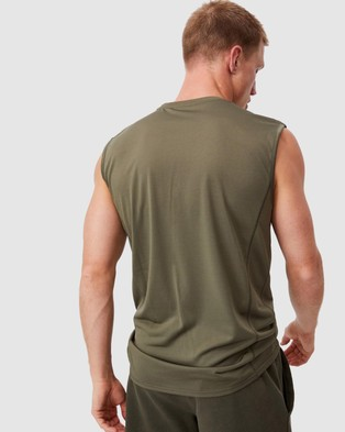 Cotton On Active Tech Muscle - Muscle Tops (Military)