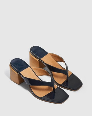 cherrichella - Cedar Mules Heels (Navy)