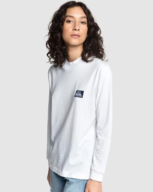 Quiksilver Quiksilver Womens Mock Neck Long Sleeve T Shirt - Long Sleeve T-Shirts (White)
