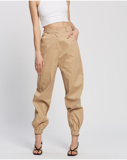 Dazie Late Night Cargo Pants Taupe