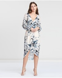 Cooper St - Vanilla Long Sleeve Drape Dress