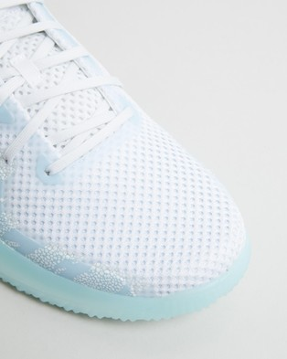 adidas Performance FitBoost Primeblue Trainers   Men's - Training (Cloud White, Silver Metallic & Sky Tint)