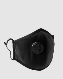 Bondi Air Co - Reusable Black Anti-Air Pollution Face Mask + Respirator & 2 Filters Set