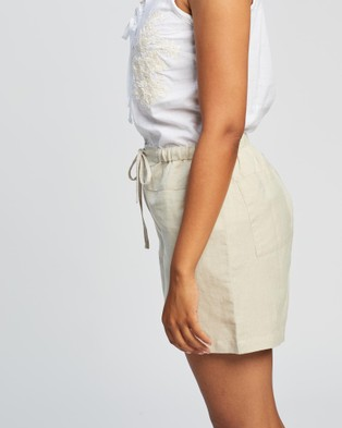 KAJA Clothing Rita Shorts - High-Waisted (Natural)