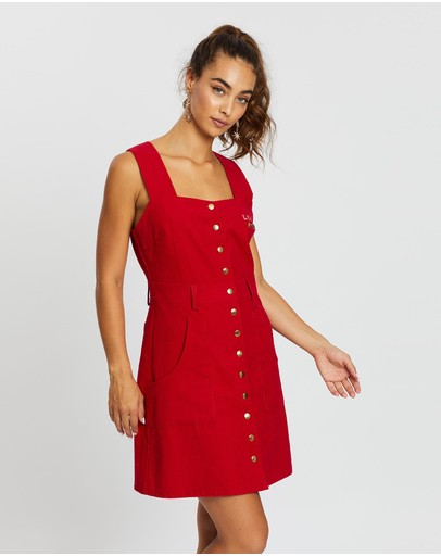 Lenni The Label Odyssey Mini Dress Red Cord