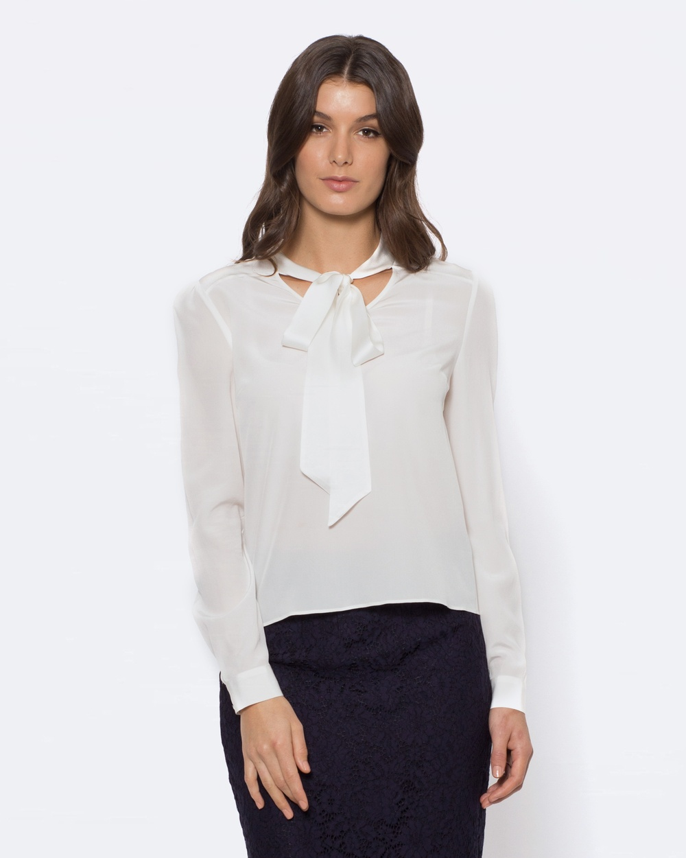 Alannah Hill After Dark Blouse Tops White After Dark Blouse