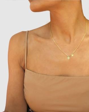 CA Jewellery Mini Monstera Leaf Necklace   Gold - Jewellery (Gold)