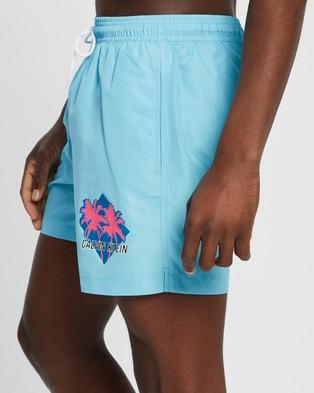Calvin Klein Ck Wave Medium Drawstring Swim Shorts - Swimwear (Bluefish)