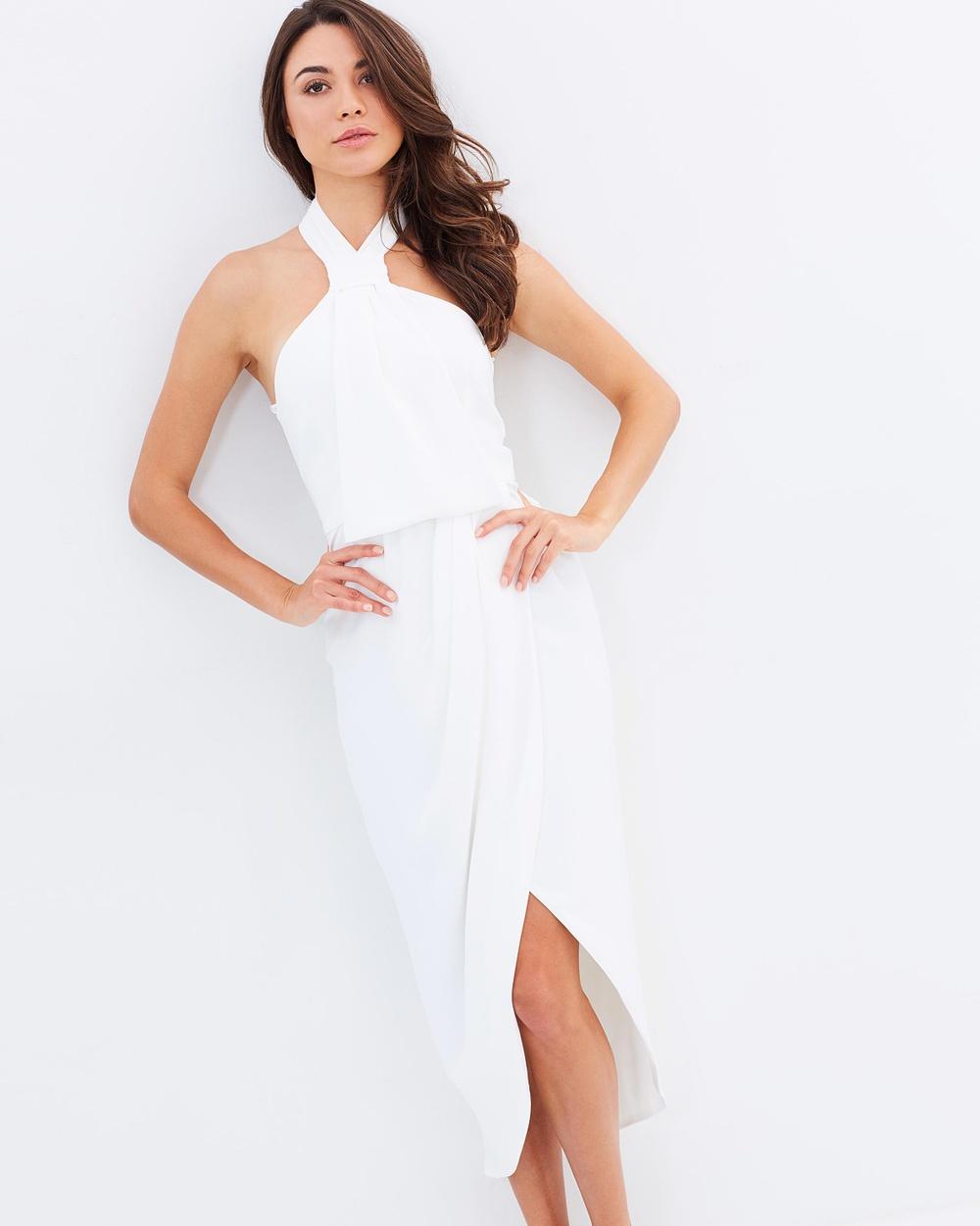 Shona Joy Core Knot Dress Dresses Ivory Core Knot Dress
