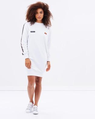 Ellesse – Cappero Sweater Dress – Dresses (Optic White)