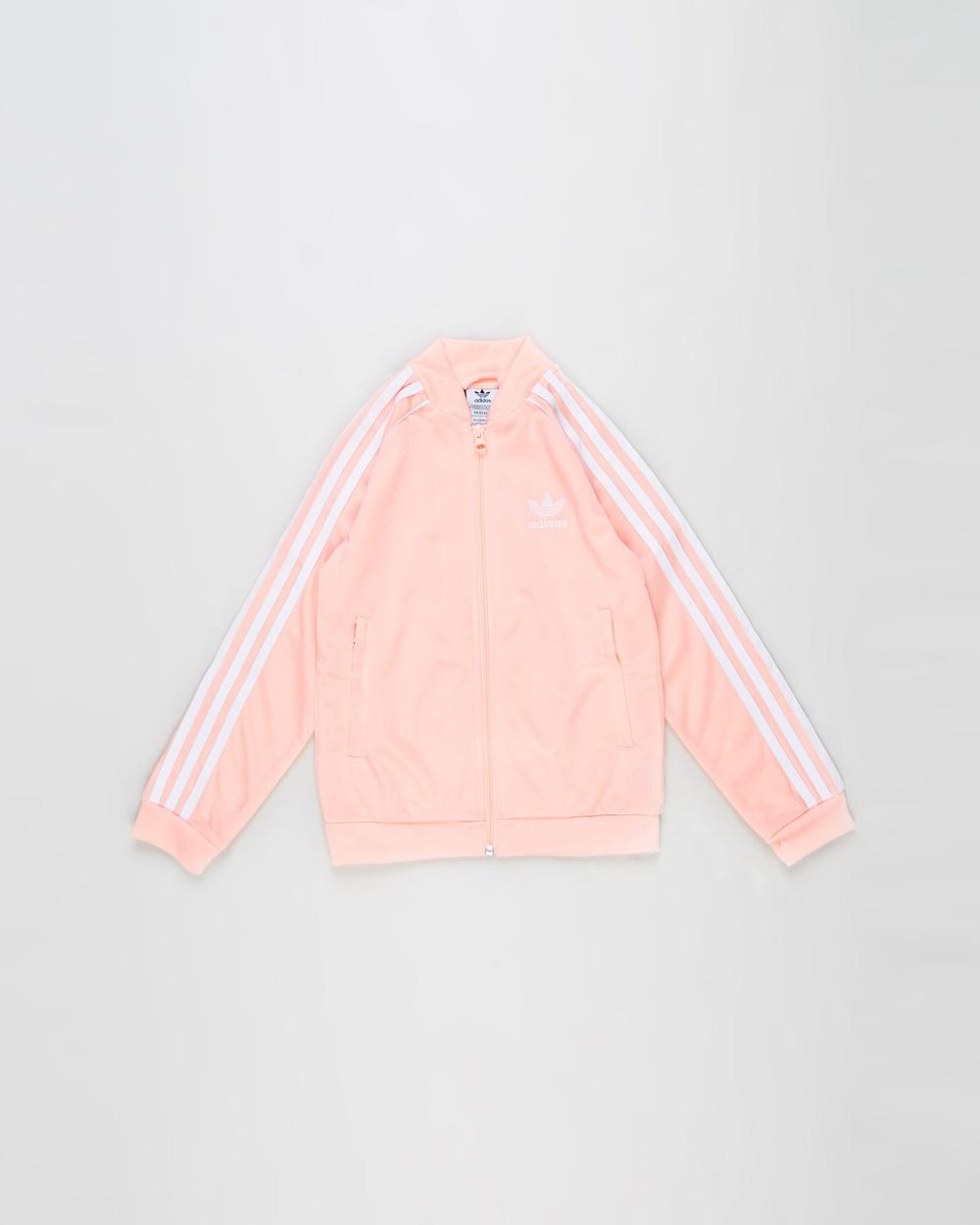 adidas Originals SST Track Top Kids Teens Coats & Jackets Haze Coral White Kids-Teens