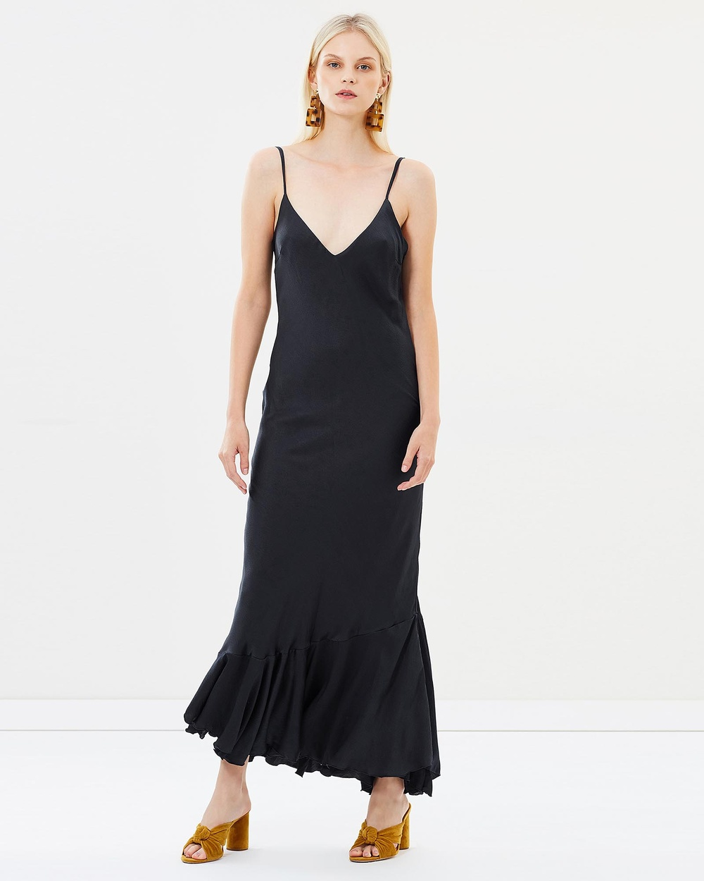Isabelle Quinn Estelle Midi Slip Dress Bridesmaid Dresses Navy Estelle Midi Slip Dress