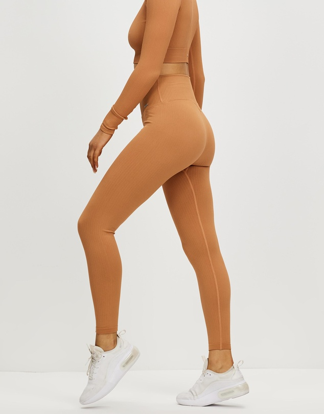 Women Ribbed Seamless Tights
