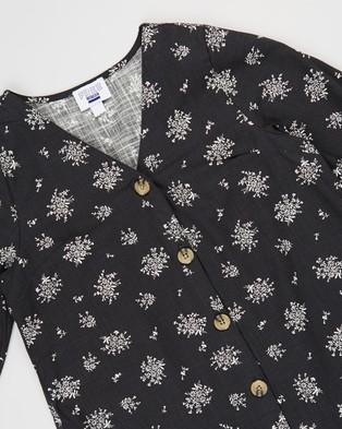 Free by Cotton On Leila Long Sleeve Dress   Teens - Printed Dresses (Phantom & Posey Floral)