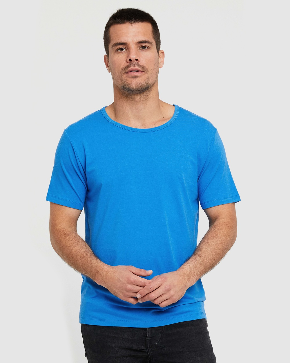 Bamboo Body - Bamboo Crew Neck T Shirt - T-Shirts & Singlets (French Blue) Bamboo Crew Neck T-Shirt