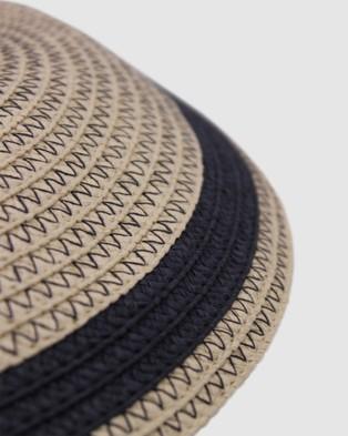 Morgan & Taylor Ava Floppy - Hats (Beige/ Navy)