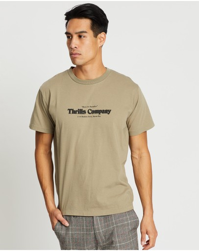 Thrills Company Pinline Merch Fit Tee Timber Wolf