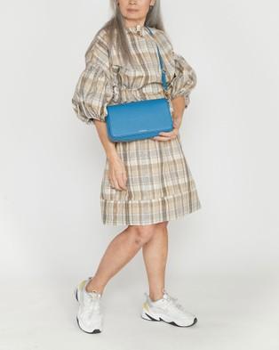 Saben Brooklyn Leather Handbag - Clutches (Blue)