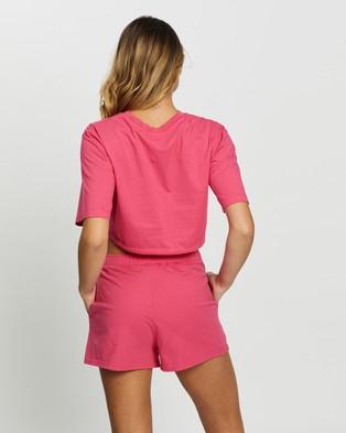 Les Girls Les Boys Jersey Apparel Crop Top - T-Shirts & Singlets (Raspberry)