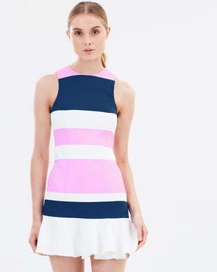 BY JOHNNY. – Colour Block Flip Mini Dress THE ICONIC Exclusive White, Pink & Navy