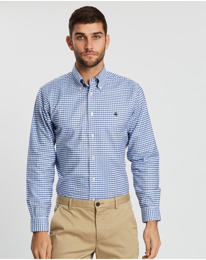 BROOKS BROTHERS - Brushed Oxford Gingham Regent Shirt