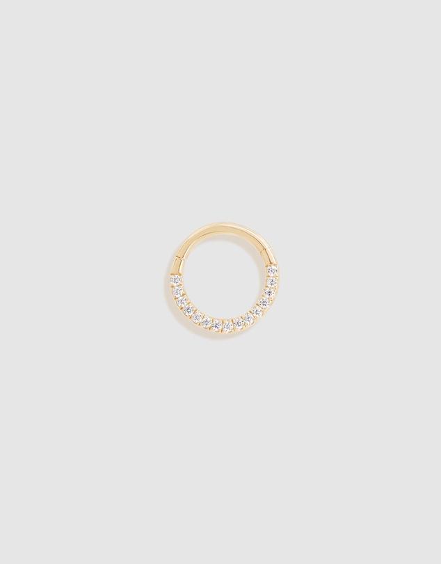 Women 14k Gold Radiant Daith Earring