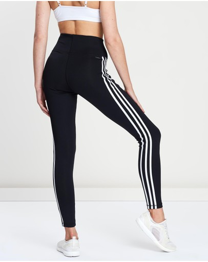 Adidas Performance Design 2 Move 3-stripes High-rise Long Tights Black