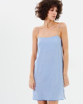 Elka Collective – Marcella Dress Blue Stripe