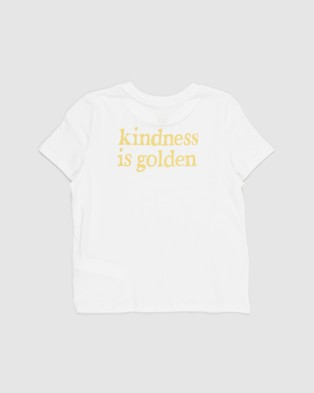 Free by Cotton On - Girls Classic SS Tee   Teens - T-Shirts & Singlets (Vanilla & Kindness Is Golden) Girls Classic SS Tee - Teens