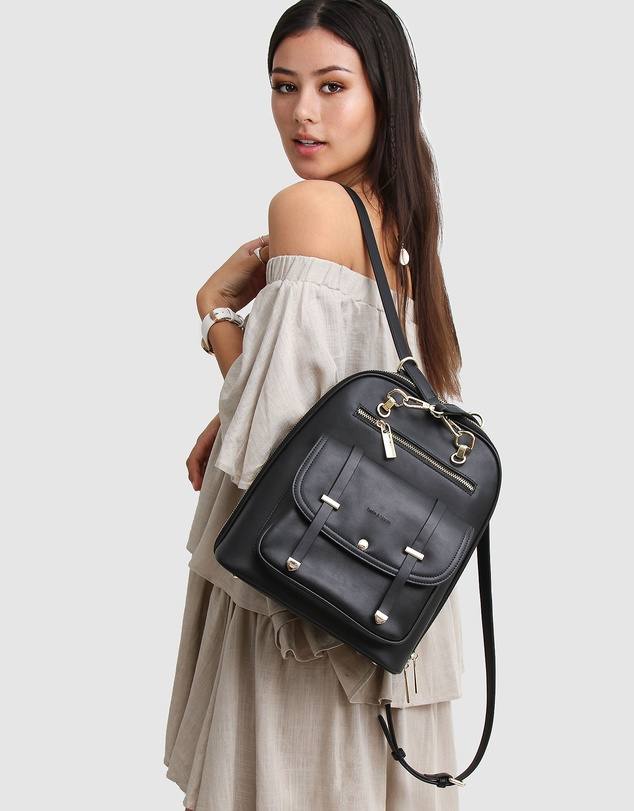 Women 5th Ave Leather Backpack