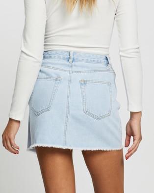 Atmos&Here Jalda Cross Front Denim Skirt - Denim skirts (Light Denim)