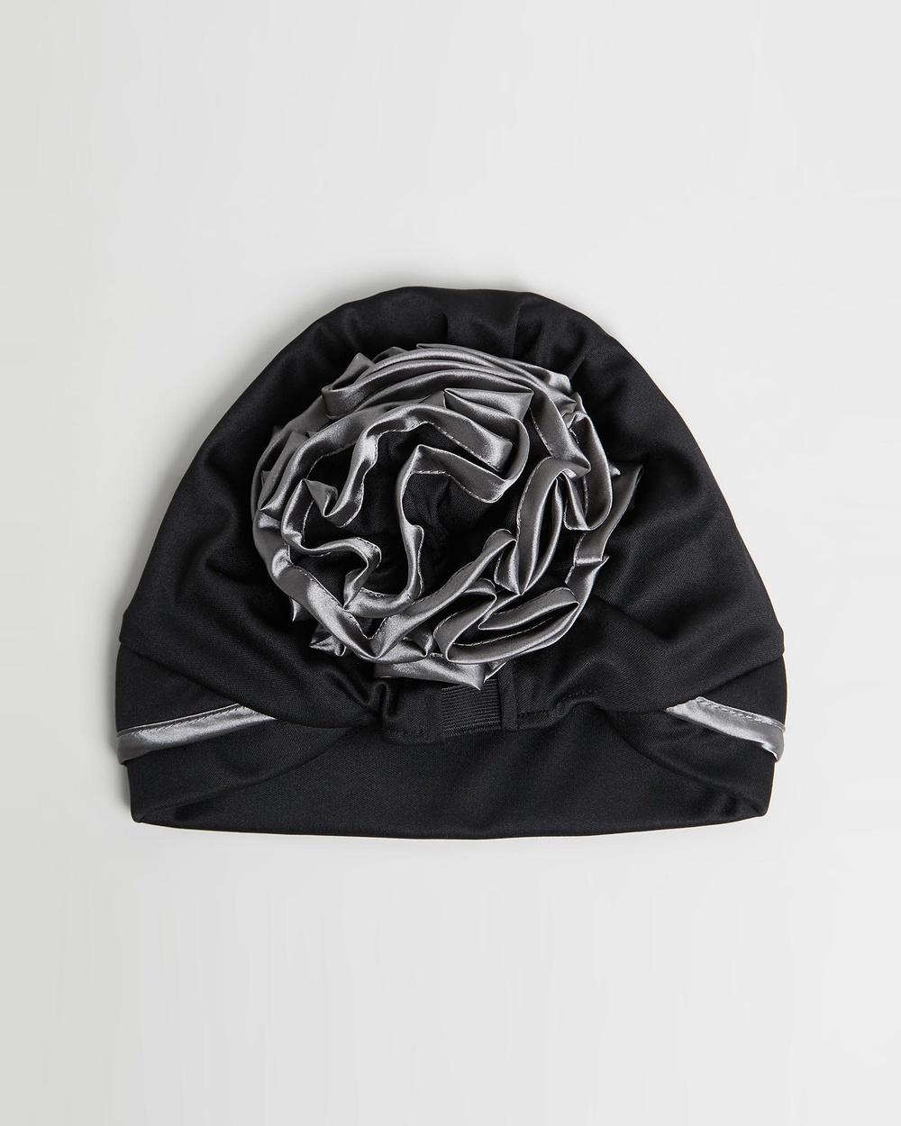 Max Alexander Turban Headscarf Headwear Black & Silver